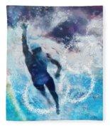Olympics Swimming 01 Fleece Blanket