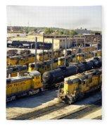 Omaha Union Pacific Maintenance Shops Fleece Blanket