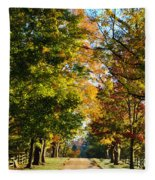 On A Country Road Fleece Blanket
