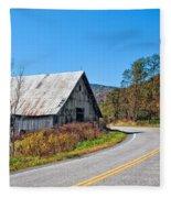 On A Roll In West Virginia 2 Fleece Blanket