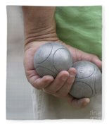 On The Boules Pitch Fleece Blanket