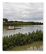 On The Danube Fleece Blanket