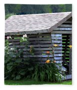 On The Farm - Corn Crib Fleece Blanket