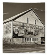 On The Lincoln Highway Sepia Fleece Blanket