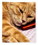 On The Phone Fleece Blanket