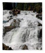 On The Rocks Glen Alpine Falls Fleece Blanket