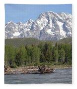 On The Snake River Fleece Blanket