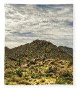 On The Top Of The Mountain  Fleece Blanket