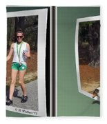 On The Trail - Gently Cross Your Eyes And Focus On The Middle Image That Appears Fleece Blanket