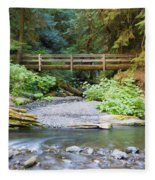 On The Trail To Marymere Fleece Blanket