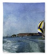 On The Water 2 - Venice Fleece Blanket