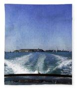 On The Water 5 - Venice Fleece Blanket