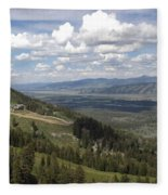 On Top Of Rendezvous Mountain Fleece Blanket