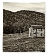 Once Upon A Mountainside Sepia Fleece Blanket