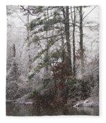 One Alabama Christmas Fleece Blanket