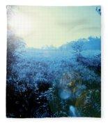 One Blue Morning Fleece Blanket