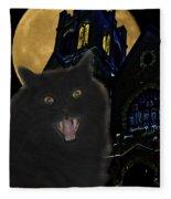 One Dark Halloween Night Fleece Blanket