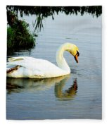 One Foot At Ease Swan Fleece Blanket