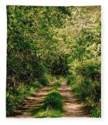 One Lonely Path Fleece Blanket