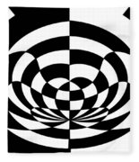 Op Art 2 Fleece Blanket