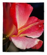Open Rose After The Rain Fleece Blanket