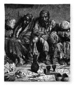 Opium Addicts, 1868 Fleece Blanket