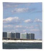 Orange Beach Fleece Blanket