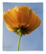 Orange Cosmos Too Fleece Blanket