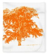 Orange Oak Fleece Blanket