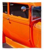Orange Passenger Door Fleece Blanket
