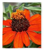 Orange Petals Fleece Blanket