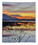 Orange Reflections Fleece Blanket