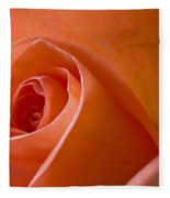 Orange Rose Fleece Blanket