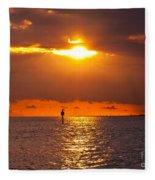 Orange Sky Fleece Blanket