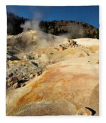 Orange Thermal Crust Fleece Blanket