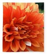 Orange Vanilla Dahlia Fleece Blanket