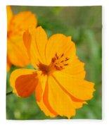 Orange Wildflower Fleece Blanket