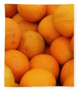 Oranges Fleece Blanket