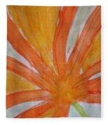 Oranje Bloemblaadje Fleece Blanket
