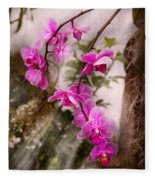 Orchid - Tropical Passion Fleece Blanket