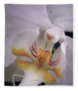 Orchid Close Up Two Fleece Blanket