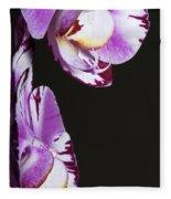 Orchid Stem Fleece Blanket
