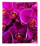 Orchids A Plenty Fleece Blanket
