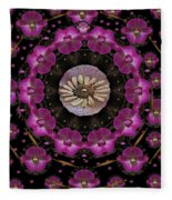 Orchids And Fantasy Flowers Fleece Blanket