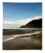 Oregon Beach Fleece Blanket