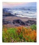 Oregon Coast Wildflowers Fleece Blanket