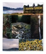 Oregon Collage From Sept 11 Pics Fleece Blanket