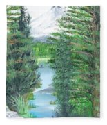 Oregon Reverie Fleece Blanket