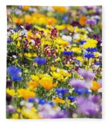 Oregon Wildflowers Fleece Blanket