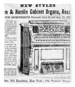 Organ Ad, 1870 Fleece Blanket